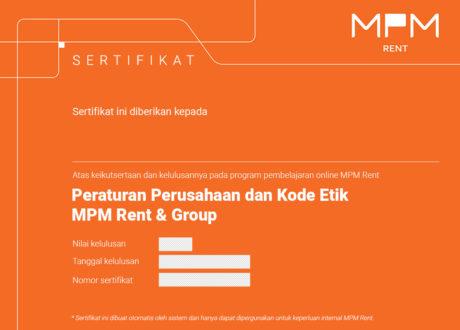 Sertifikat MPM PP COC V3