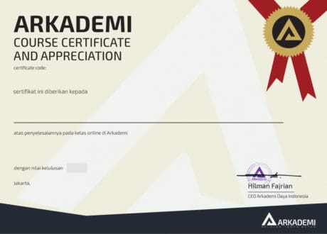 sertifikat kelas mendirikan startup dan cara menghitung saham arkademi