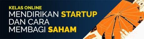 kursus favorit arkademi mendirikan startup dan cara membagi saham