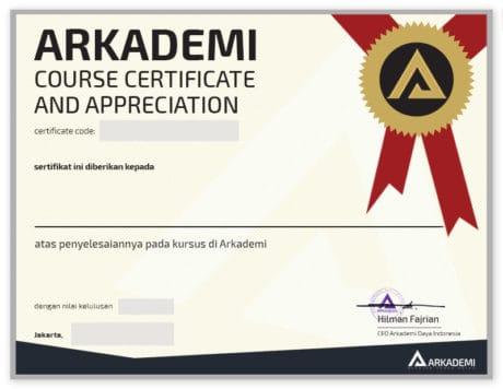 NEW LONG - Template sertifikat Arkademi