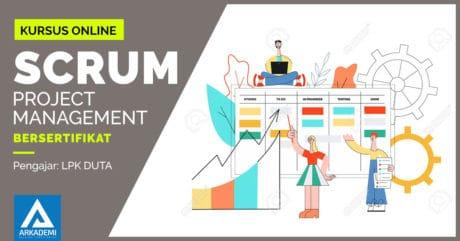 kursus online scrum project management bersertifikat lpk duta arkademi