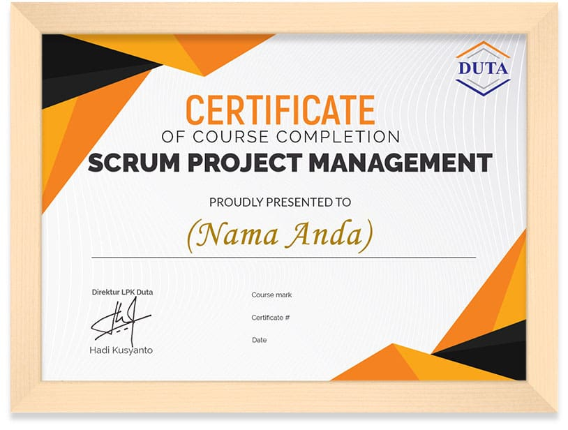 sertifikat scrum project management kursus online arkademi (frame) 2