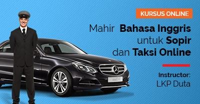 feature image arkademi kursus online Mahir Bahasa Inggris untuk Sopir dan Taksi Online lkp duta