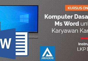 feature image kursus online arkademi Komputer Dasar dan Ms Word untuk Karyawan Kantor duta