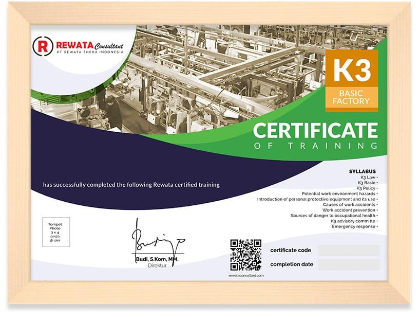 sertifikat keselamatan dan kesehatan kerja