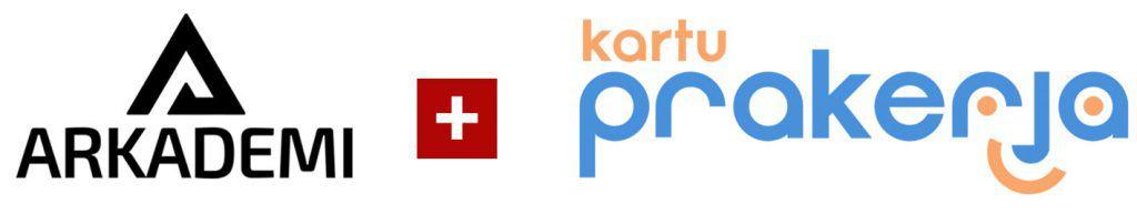 logo arkademi dan kartu prakerja