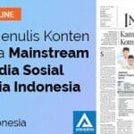 feature image Mahir Menulis Konten di Media Mainstream dan Sosmed