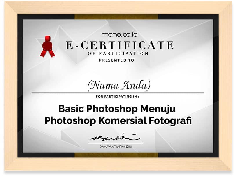 FRAMED BASIC PHOTOSHOP MENUJU PHOTOSHOP KOMERSIAL FOTOGRAFI