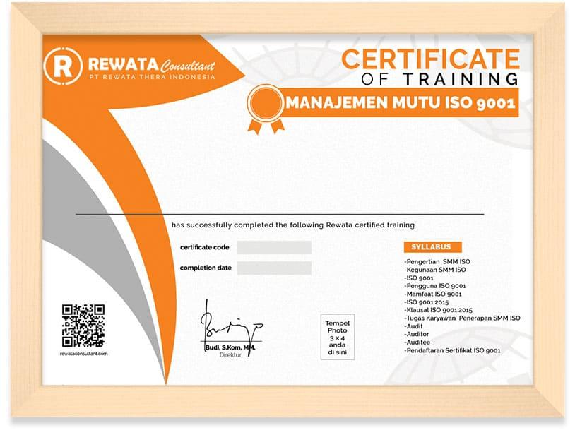 Sertifikat Manajemen Mutu ISO 9001 Arkademi