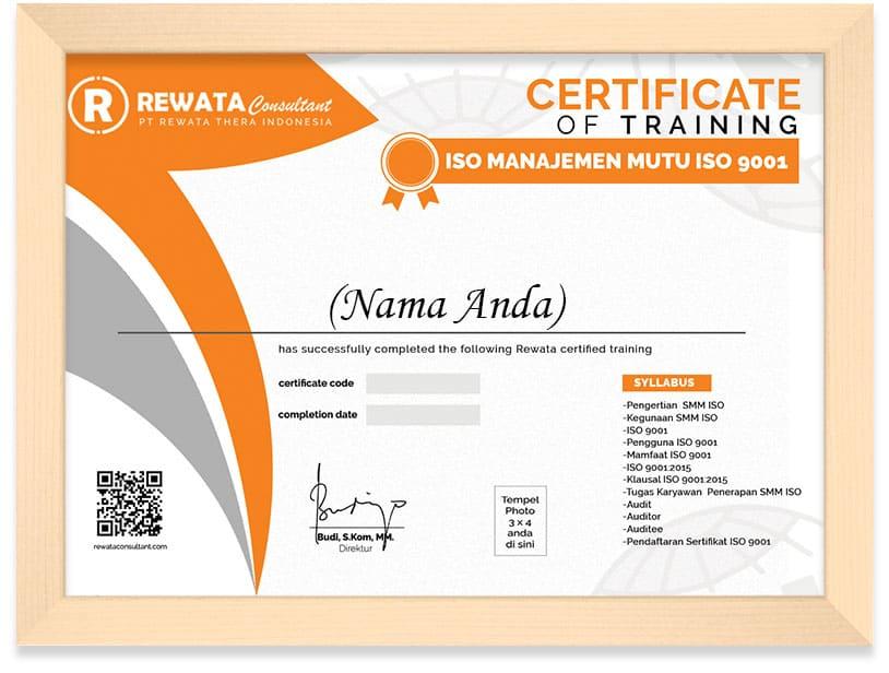 FRAMED SERTIFIKAT ISO 9001