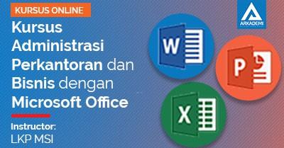feature image kursus administrasi perkantoran dan bisnis dengan microsoft office