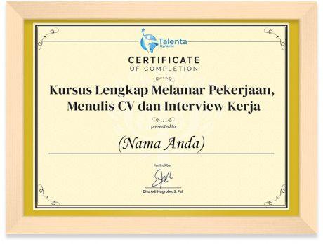 FRAMED Kursus Lengkap Melamar Pekerjaan, Menulis CV dan Interview Kerja