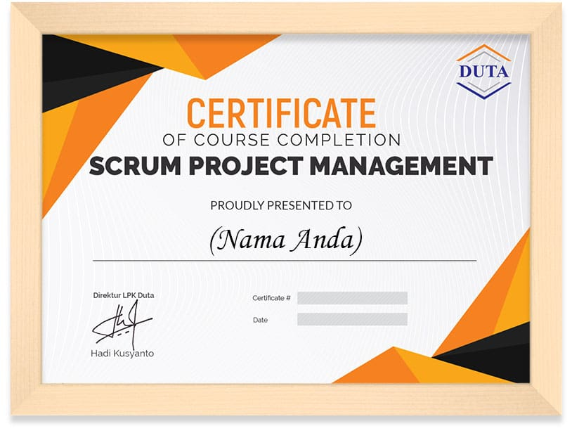 Sertifikat Arkademi Scrum Project Management