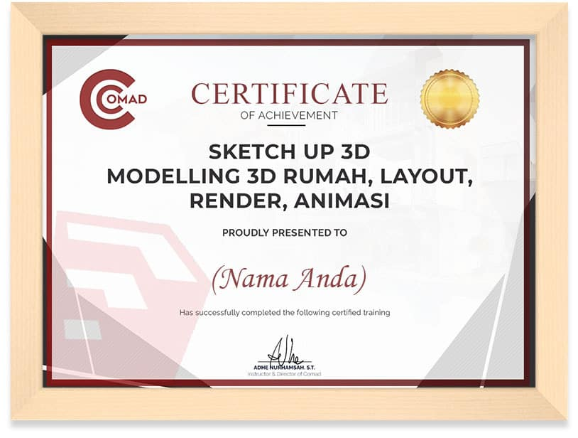 Certificate Comad Sketchup Frame