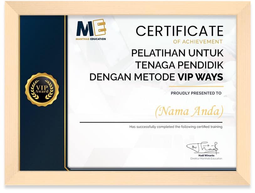 Certificate Manthab Education Frame