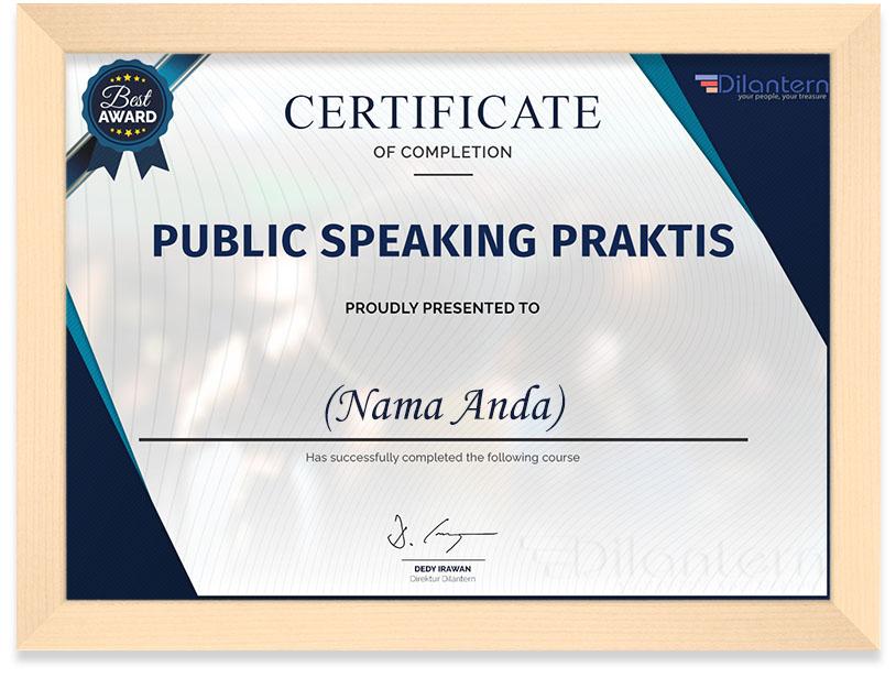 Certificate_Public_Speaking_Frame