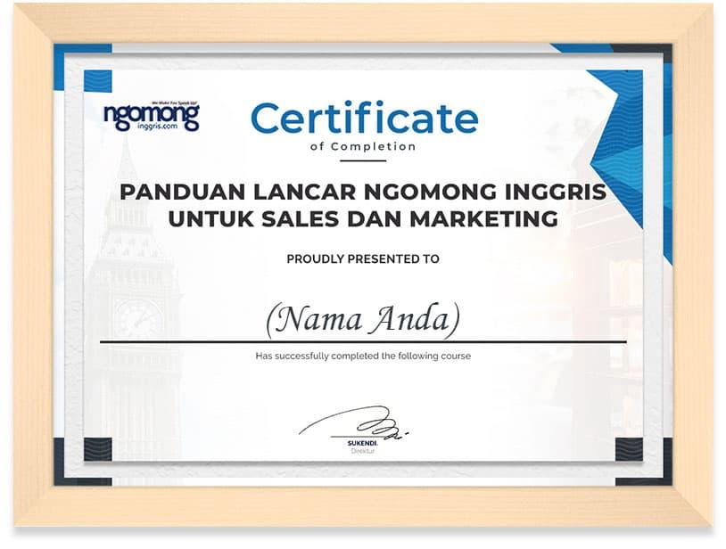ngomong_english_Certificate_Frame