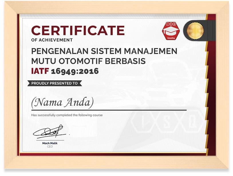 Certificate_Automotive_Frame