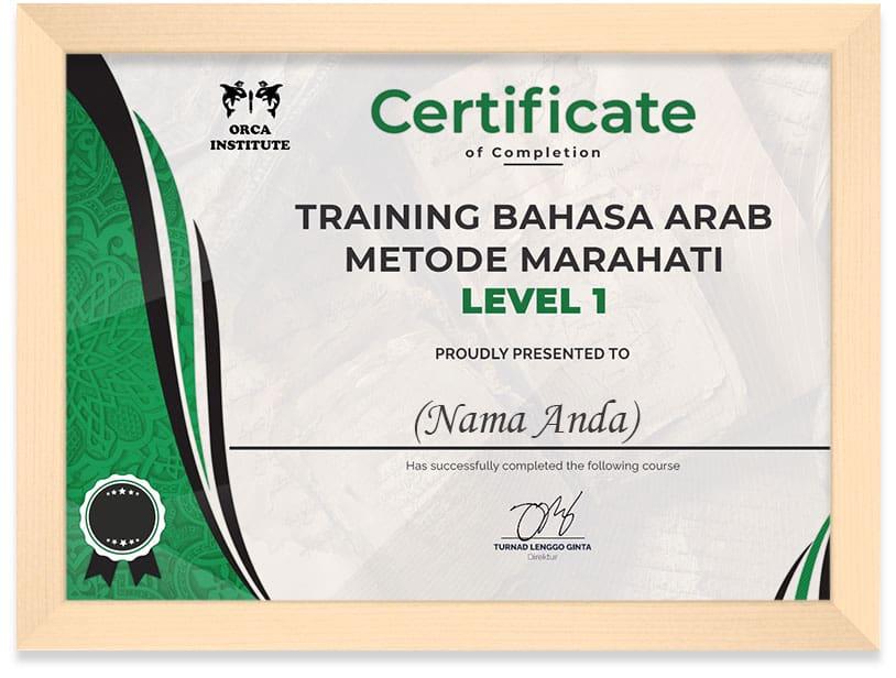 Certificate_Arab_Lv1_Frame