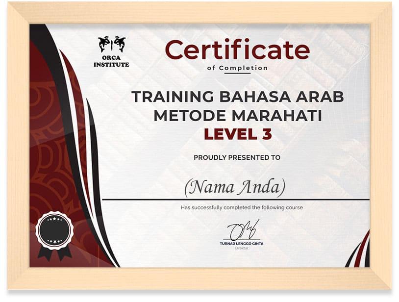 Certificate_Arab_Lv3_Frame