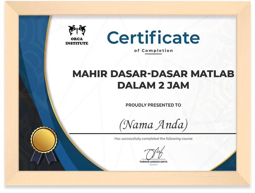 Matlab_Certificate_Frame