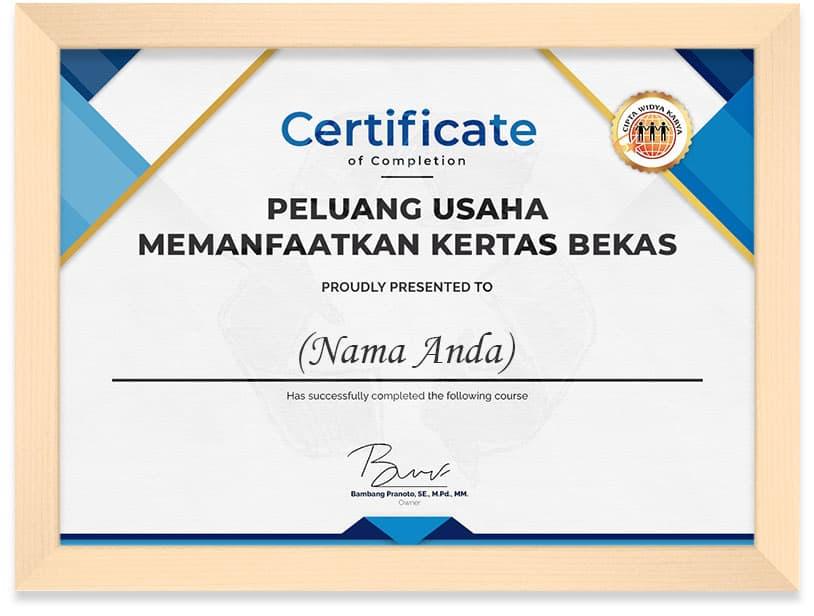 Certificate_Memanfaatkan_Kertas_Frame