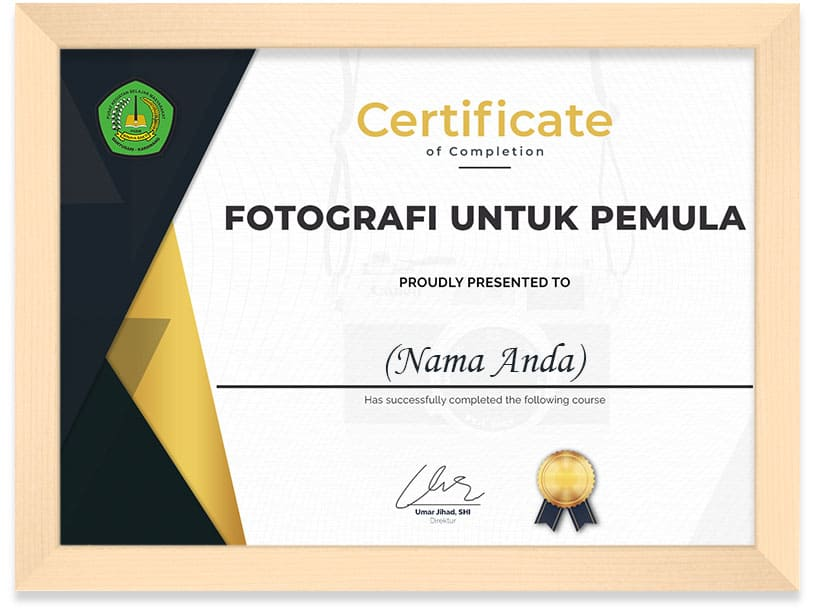 _Certificate_Photografi_Frame