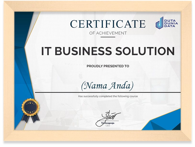 IT_Business_Solutiion_Certificate_Frame