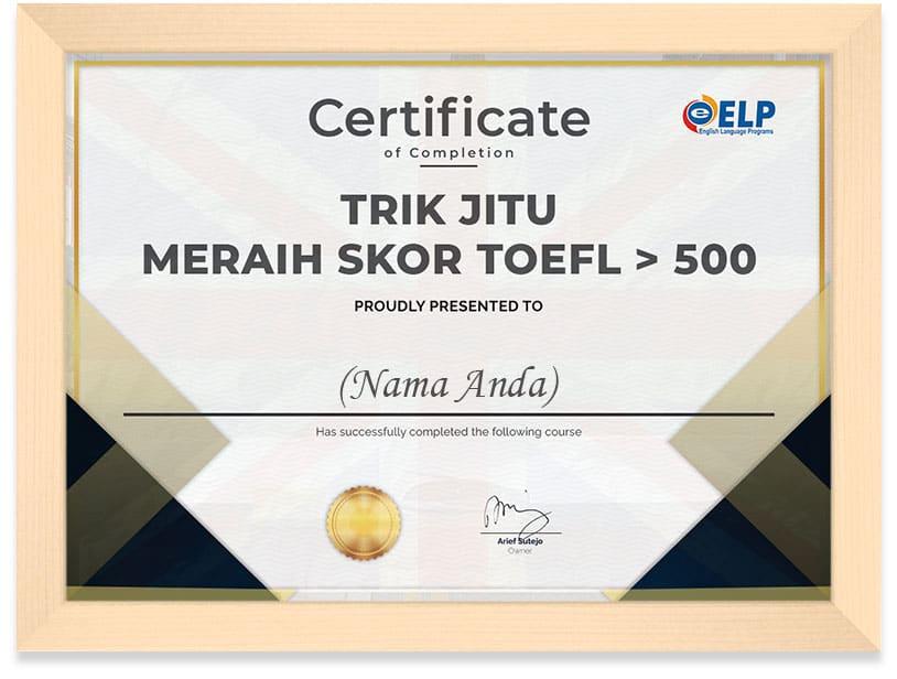 Toefl_Panjang_Certificate_Frame