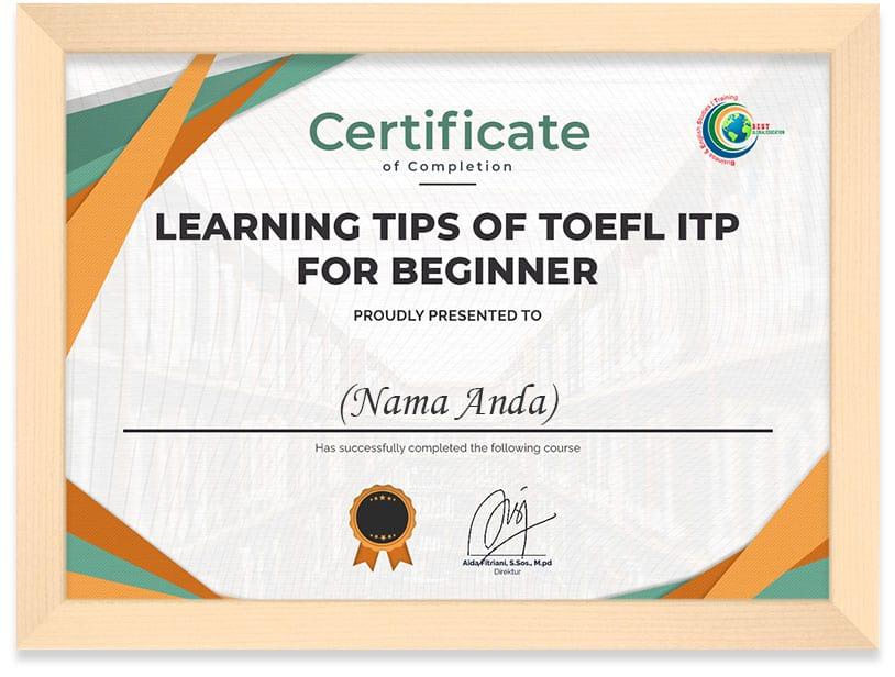 Certificate_Toefl_Pendek_Frame