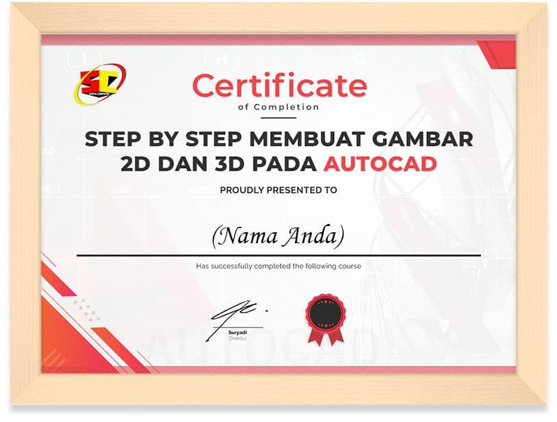 Membuat_Design_Autocad_Certificate_Frame