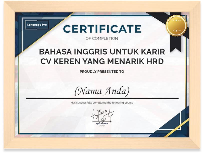 English_Language_Pro_CV_Certificate_Frame