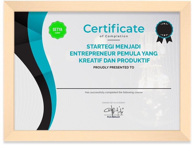 Sertifikat_Startegi_Menjadi_Entrepreneur_Pemula_yang_Kreatif_dan_Produktif_Frame