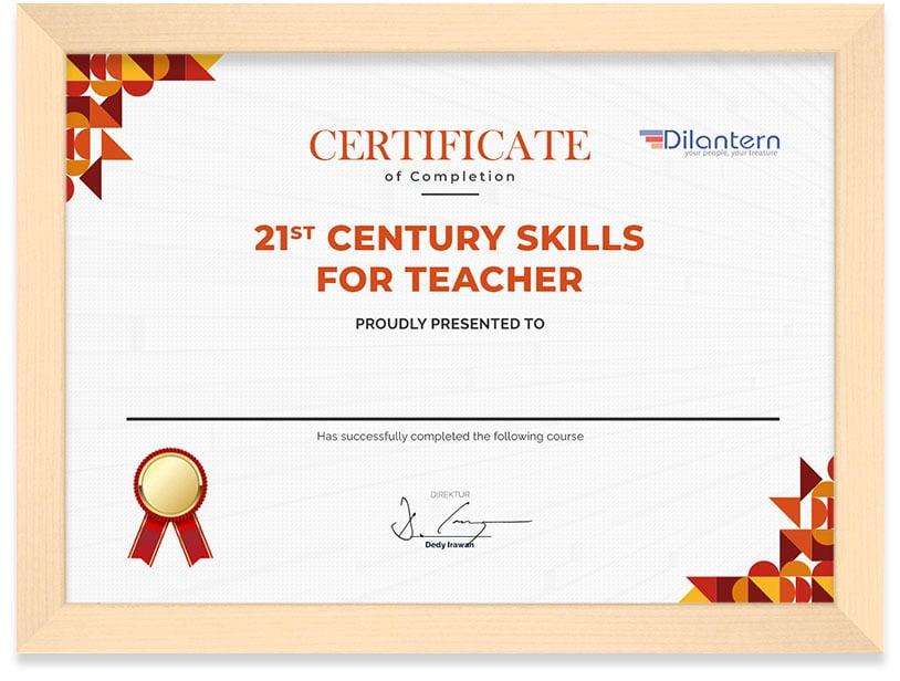 Arkademi_Sertifikat__21_CENTURY_SKILL_FOR_TEACHER_Frame