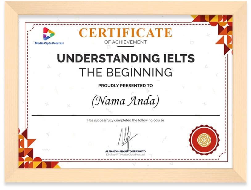 Arkademi Kursus Online - Understanding IELTS Frame