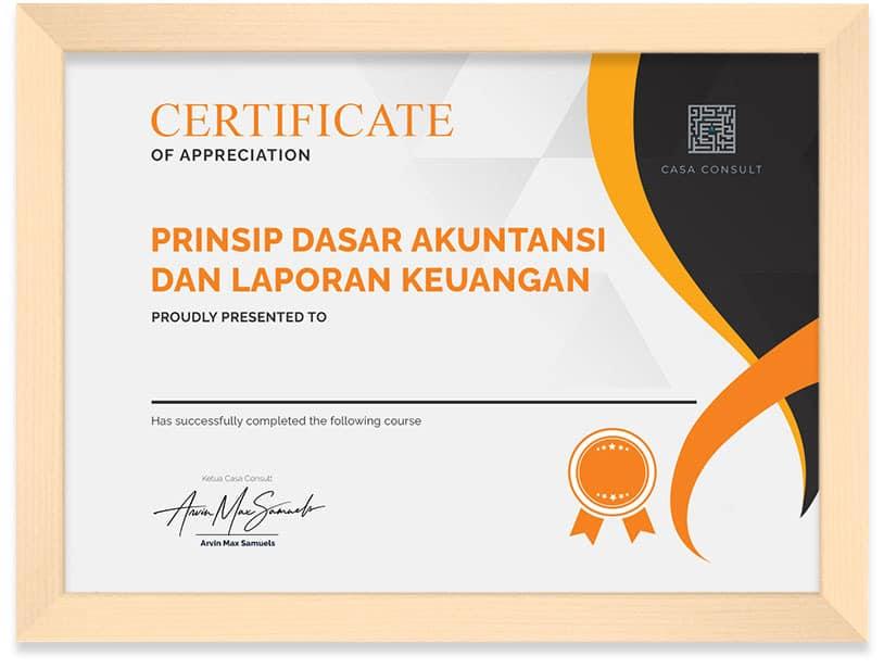 Arkademi Kursus Online - Sertifikat Akuntansi dan Laporan Keuangan Frame
