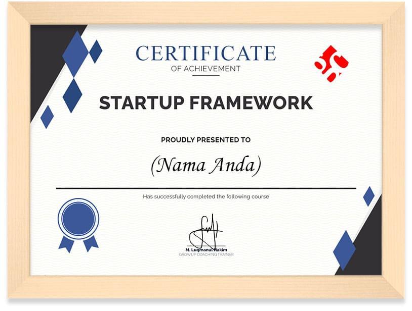 Sertifikat Kursus Menguasai Kerangka Kerja Perusahaan Startup