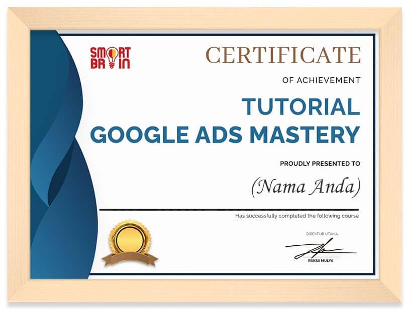 Arkademi Kursus Online - Sertifikat Tutorial Google Ads Mastery (frame)