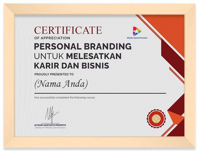 Arkademi Kursus Online - Sertifikat Personal Branding untuk Melesatkan Karir dan Bisnis (Frame)