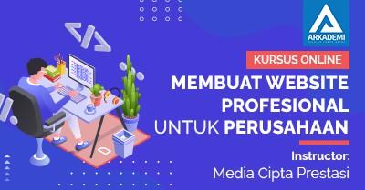 Arkademi Kursus Online - Thumbnail Membuat Website Professinal Untuk perusahaan