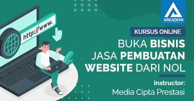 Arkademi Kursus Online - Thumbnail Buka Bisnis jasa pembuatan website dari Nol
