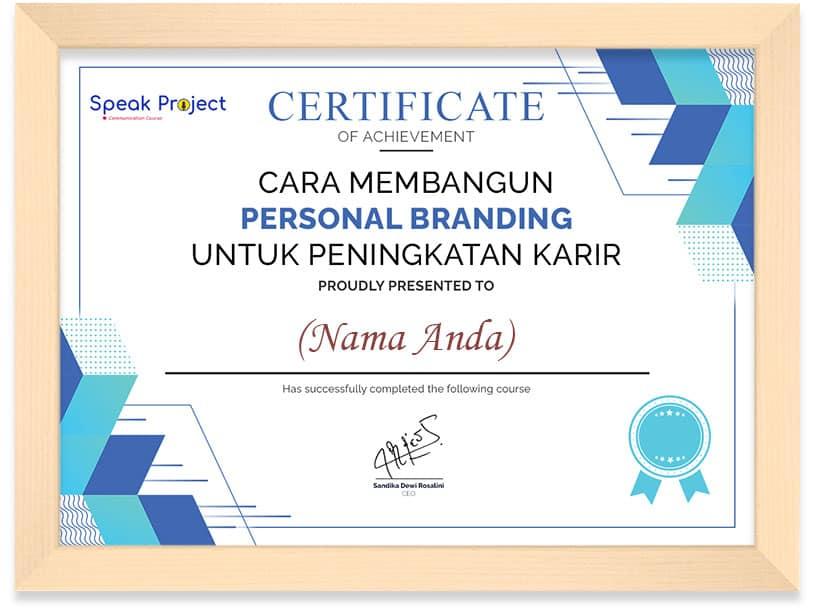 Sertifikat Kursus Personal Branding