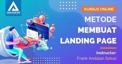 Arkademi Kelas Online - Thumbnail Metode Membuat Landing Page