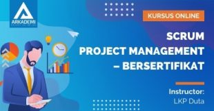 Arkademi Kursus Online - Thumbnail SCRUM Project Management – Bersertifikat