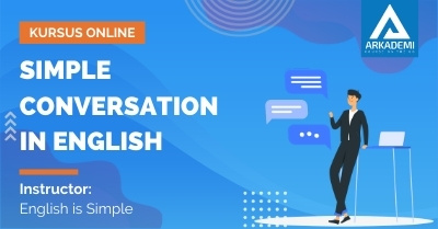 Arkademi Kursus Online - Thumbnail Simple Conversation in English