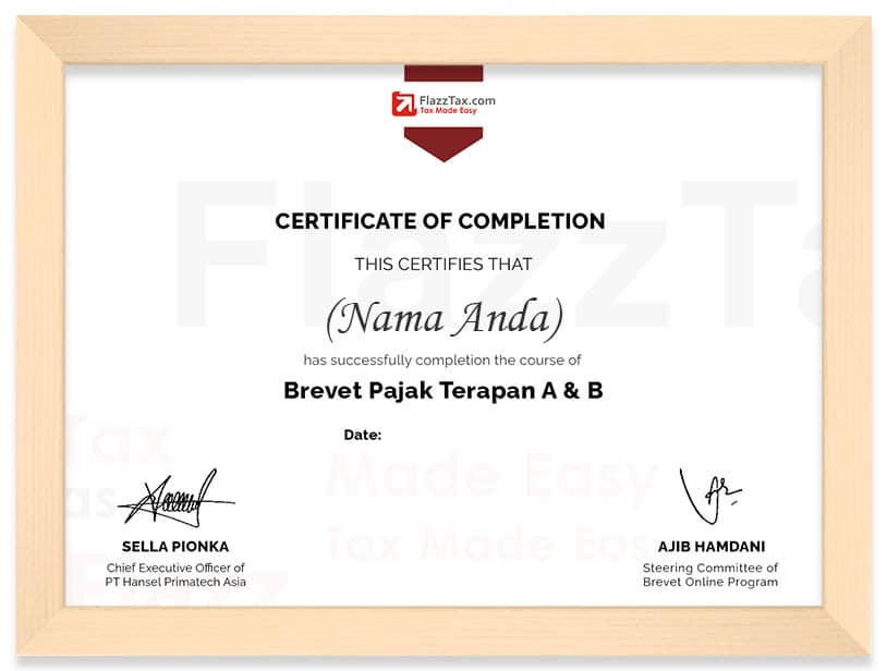 Template Certificate Frame