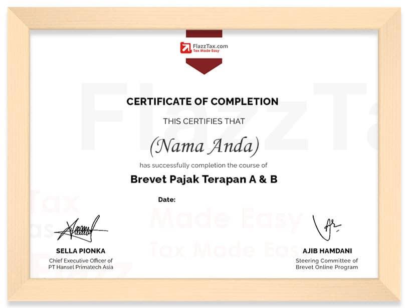 Template Certificate Frame