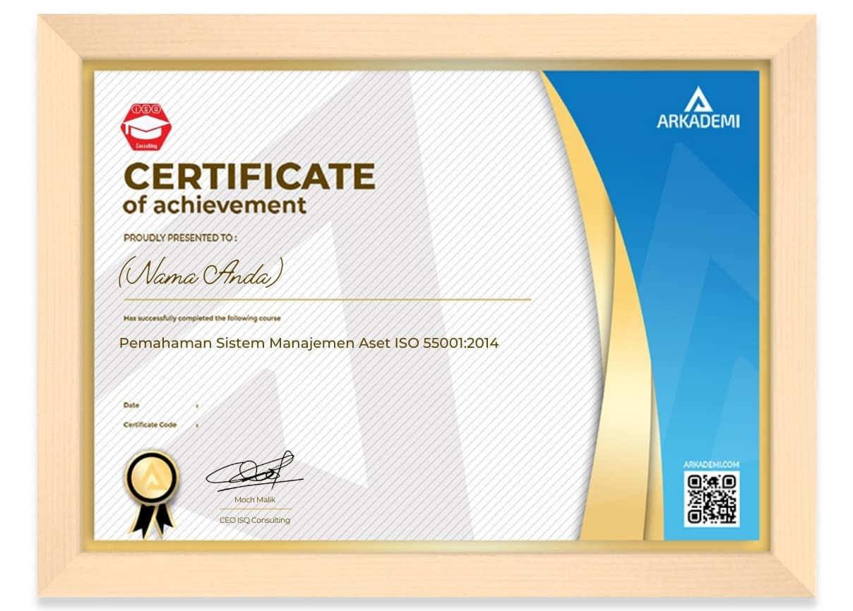 Arkademi Kursus Online - Sertifikat Pemahaman Sistem Manajemen Aset ISO 550012014 Frame