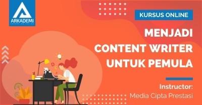 Arkademi Kursus Online - Thumbnail Menjadi Content Writer untuk Pemula