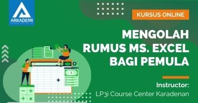 Arkademi Kursus Online - Thumbnail Mengolah Rumus Ms. Excel bagi Pemula Rev